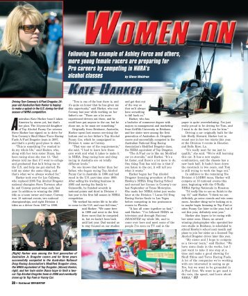 Following the example of Ashley Force and others ... - NHRA.com