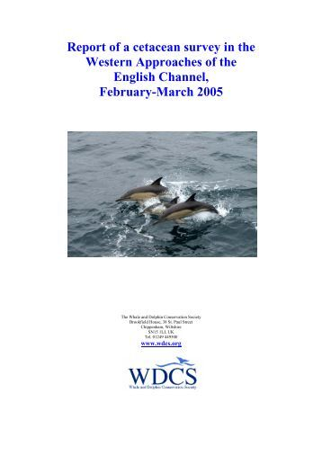 Report of a cetacean survey in the Western Approaches of the ...