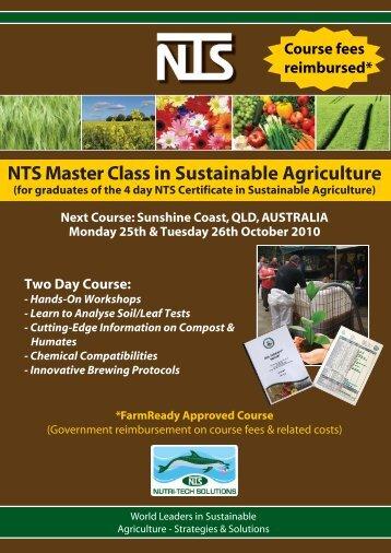 Master Class Registr.. - Nutri-Tech Solutions