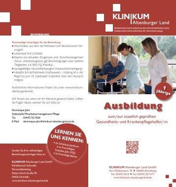 Ausbildung - Klinikum Altenburger Land GmbH