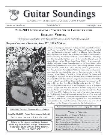 Guitar Soundings, v.54 n.2 (March/April 2013) - Seattle Classic ...
