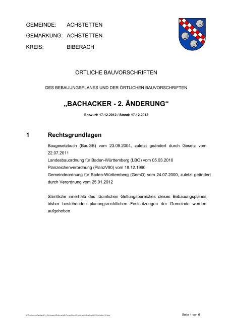Download Örtliche Bauvorschriften - Wohnen am Wildpark in ...
