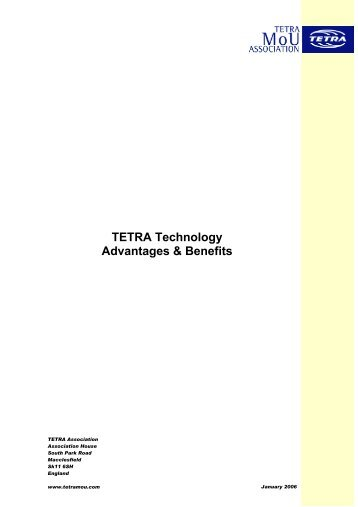 TETRA Technology Advantages & Benefits