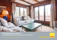 Golf apartment, Verbier - Ski chalets for sale