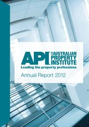 Annual Report 2012 - The Australian Property Institute