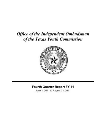 Office of the Independent Ombudsman of the Texas Youth ...
