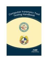 Computer Forensics Tool Testing Handbook