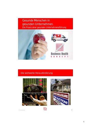 Gesunde Menschen in gesunden Unternehmen - SchmidtColleg ...