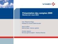 VINCI - Présentation des comptes 2009