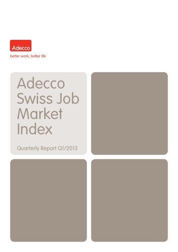 Adecco Swiss Job Market Index - Adecco Switzerland