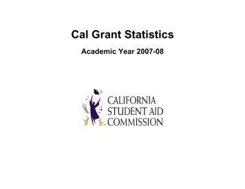 Cal Grant Statistics - CSAC California Student Aid Commission