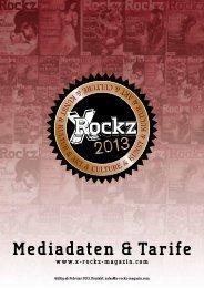 Kommunikationsleistungen / Formate & Tarife - X-Rockz Magazin