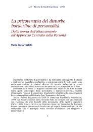 La psicoterapia del disturbo borderline di personalità - ACP