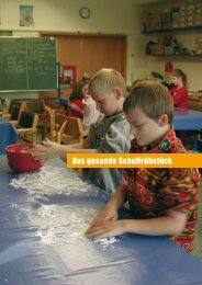 Das gesunde Schulfrühstück - Transparenz schaffen