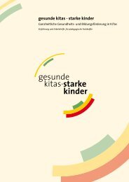 gesunde kitas · starke kinder - Plattform Ernährung und Bewegung