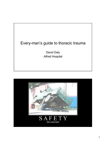 Every-man's guide to thoracic trauma - Alfred Hospital