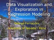 Data Visualization and Exploration in Regression Modeling