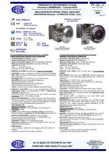 DW IP65 - Ettore Cella SPA