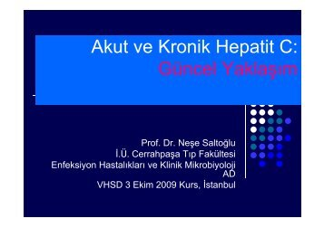 Akut ve Kronik Hepatit C: Gü l Y kl Güncel Yaklaşım - VHSD