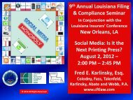 Social Media - Louisiana Department of Insurance