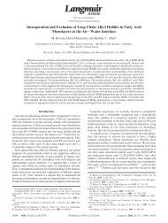 Incorporation and Exclusion of Long Chain Alkyl Halides ... - Chemistry