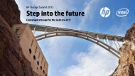 Step into the future - Hewlett-Packard