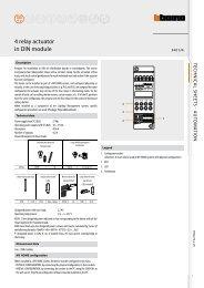 4 relay actuator in DIN module