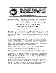 2007 Mayors' Climate Protection Award Winners Announced - U.S. ...