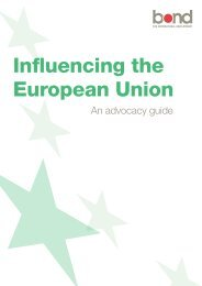 Influencing the European Union - Bond