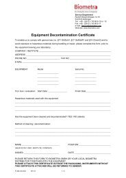 Download Equipment Decontamination Certificate