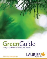 Green Guide - Wilfrid Laurier University