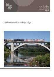 Liikenneviraston julkaisuohje (pdf)