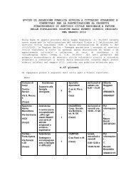 avviso di selezione pubblica rivolto - Comune di Modena