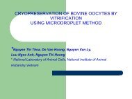 cryopreservation of bovine oocytes by vitrification using microdroplet ...