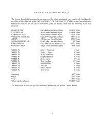 2012 General Certification (43K PDF) - Monroe County