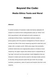Beyond the Media Code: Ethics, Education and Moral Reason