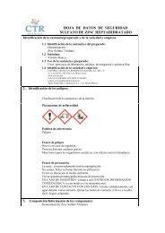Sulfato de Zinc Heptahidratado MSDS - CTR Scientific