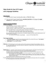 STYLE MANUAL - Cooper Institute