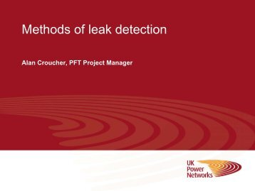 Leak detection methods - Energy Networks Association