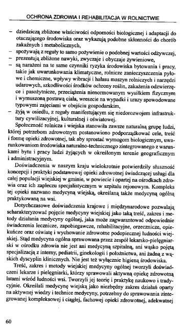OCHRONA ZDROWIA I REHABILITACJA W ROLNICTWIE - KRUS