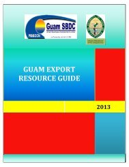 guam export resource guide - Pacific Islands Small Business ...