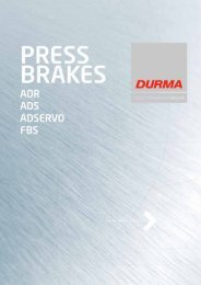 Durma Press Brakes - f.metal-supply.dk