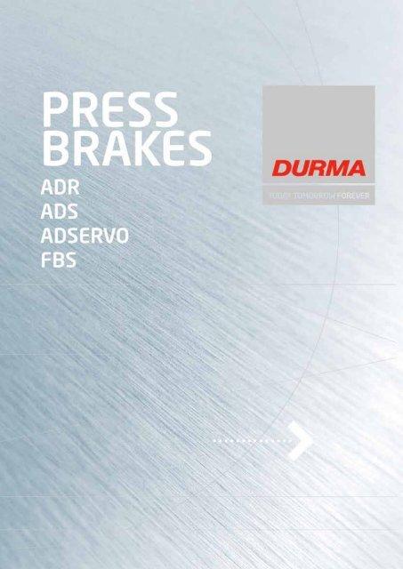 Durma Press Brakes - f.metal-supply.dk
