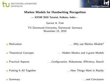 Markov Models for Handwriting Recognition - Gernot A. Fink - TU ...