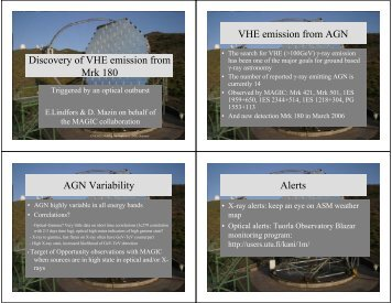 Discovery of VHE gamma-rays from Mkn 180 triggered by an optical ...