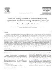 Ferric iron-bearing sediments as a mineral trap for CO2 sequestration
