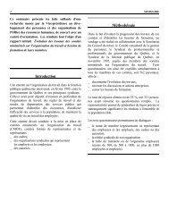 Travaux des comités ministériels sur l'organisation du travail et ...