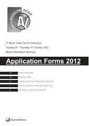Application Form A/1 - Aluminium 2012