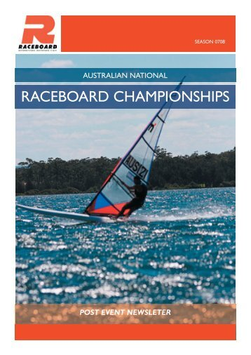 Raceboard Nationals Newsletter - Australian Windsurfing