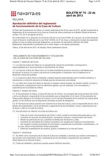 reglamento funcionamiento casa de cultura - Ayuntamiento de ...